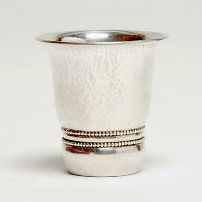 Georg Jensen 925 Sterling Kiddish/toasting Cup Hand Hammered Beaded #362, 1930