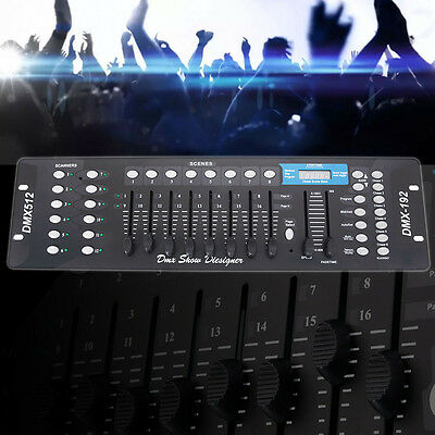 192 Channels DMX512 Stage Light Controller Console for Party DJ Disco KTV Party