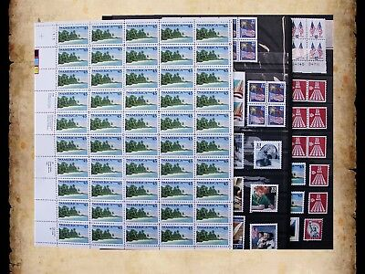 US Postage Stamps Face Value $42 + Unused Lot #47 Sheets Blocks Mixed 55c Combos