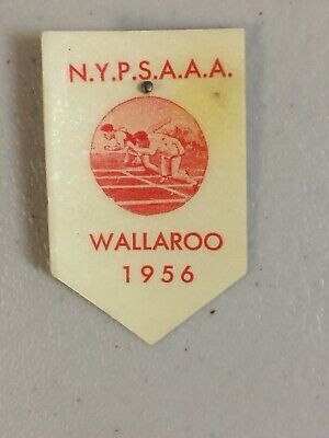 NYPSAAA Wallaroo 1956 Celluloid Pin Badge School Athletics