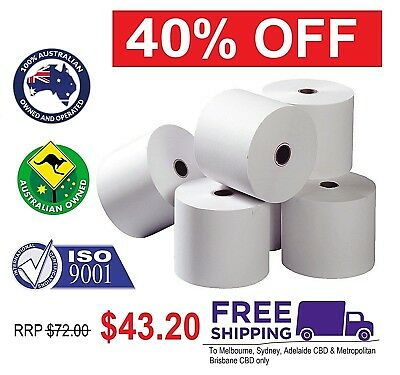 80x80mm Thermal Rolls Printer Receipt Docket Paper 24 pieces NEW + FREE SHIPPING