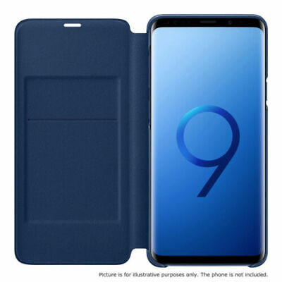 Original Samsung Galaxy S9 Plus S9+ LED View Cover Wallet Case EF-NG965 blue