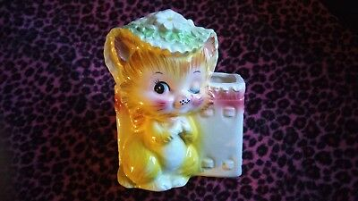 Vintage Yellow Miss Priss Enesco Lefton Japan Planter