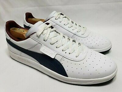 Puma G. Vilas Sneakers Shoes Casual White Blue Maroon Leather Mens Size US  11 a669286a0