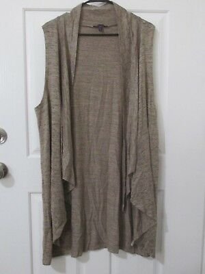NWT Womens OLIVIA SKY Suede Chino Combo Heathered Convertible Vest Sz  XX-LARGE e22b5251d