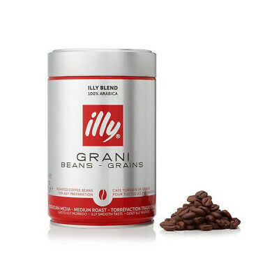 New - illy Coffee Whole Beans Medium Roast 250g - 24 Tins - Free Shipping