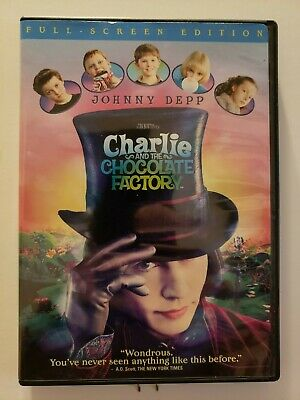 Charlie and the Chocolate Factory (DVD, 2005, Full-Screen Edition) Johnny Depp