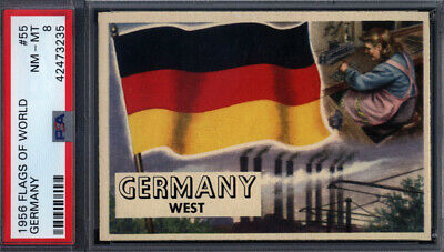 1956 Topps Flags Of The World #55 Germany PSA 8 pop 14 (Only 3 Higher) *692376