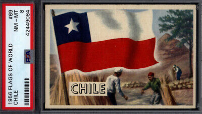 1956 Topps Flags of the World #69 Chile PSA 8 *692420