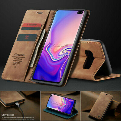 For Samsung Galaxy S10 / S10+ Plus Magnetic Flip Cover Leather Wallet Stand Case