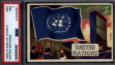 1956 Topps Flags of the World #80 United Nations PSA 7 *692423