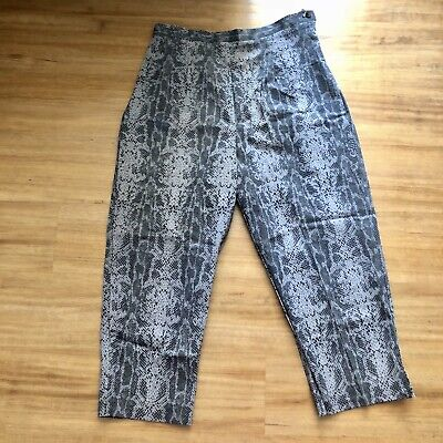 New York City Design Co Snakeskin Womens Petite Cropped Pants Size 14P NWT