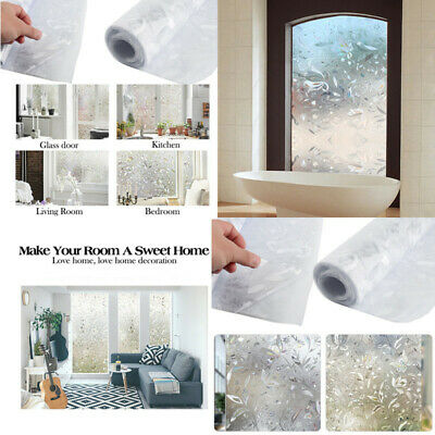 HOT Window Film Sticker Static Decorative Privacy Frosted Stained Glass Decor g4