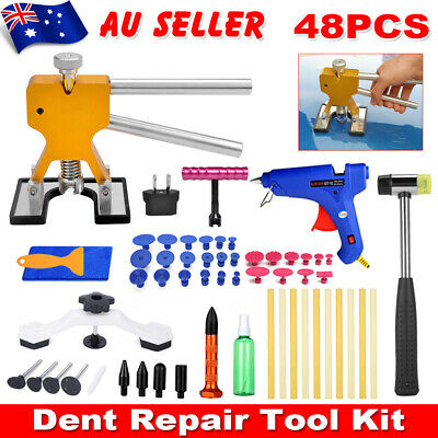 48 Car Board Repair Tools PDR Paintless Dent Puller Lifter Hail Removal Glue Gun