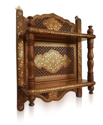 Classic India Wooden hand made carved handicraft wall Shelf Bracket ~ Temple