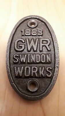 "GWR 3"" High Great Western Railway - Cast Iron Vintage Style  Plaque - Door Sign"