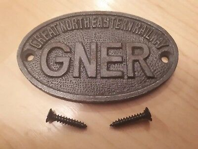 SMALL OVAL GREAT WESTERN RAILWAY CAST IRON PLAQUE GWR METAL DOOR SIGN  8cm New