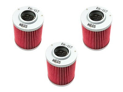 Oil Filter Set 3 Piece K&n KN-152 for Bombardier Ds Can Am Outlander Cfmoto