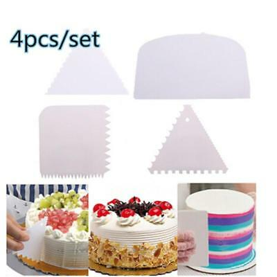 Cake Decorating Fondant Cake Scraper Cutter Smoother Smoothing Tools DS