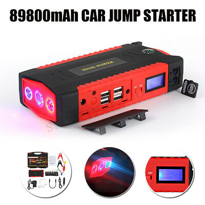89800mAh Car Jump Starter Portable Power Bank 4 USB Battery Booster Charger
