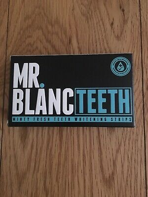 Mr Blanc Minty Fresh Teeth Whitening Strips 14 Pouches 2 Weeks Supply UK Stock