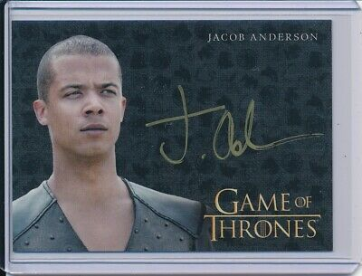 2017 Game of Thrones Valyrian Steel Jacob Anderson as Grey Worm Autograph