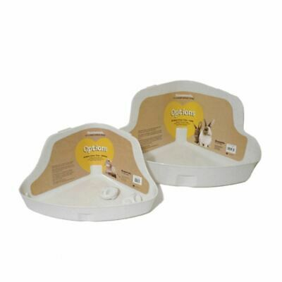 Rosewood Options Corner Litter Tray for Small Animal, Rabbit, Hamster and Ferret