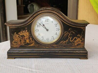 Chineserie Bayard Old French 8 Days Table Clock