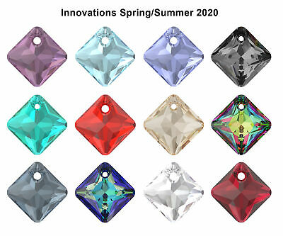 NEW Genuine SWAROVSKI 6431 Princess Cut Crystal Pendants * All Colors & Sizes