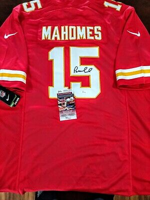 new style 2c28e db170 PATRICK MAHOMES CHIEFS SIGNED AUTOGRAPH NFL Authentic NIKE On-Field  Jersey.JSA