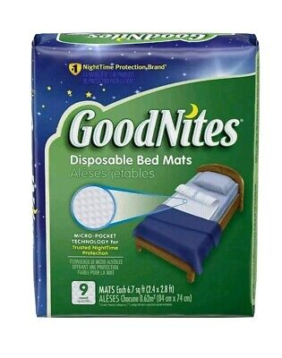 GoodNites Disposable Bed Mats, 18 Count