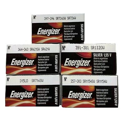 1 x Energizer Watch Battery - Japan/USA Made - All Sizes Silver Oxide Batteries