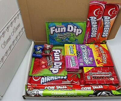 Sweets Heaven Branded American Candy Selection Gift Box 14 Items Gift Hamper