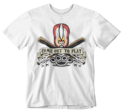 Warriors T-Shirt Come Out To Play Bat Dusters Movie Film Retro 70s NY Gangs