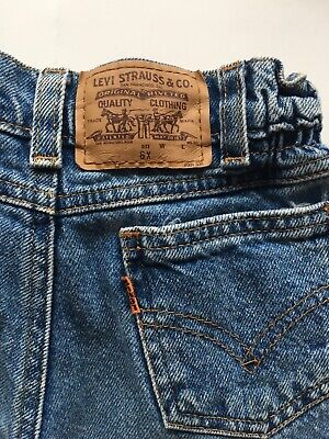 VTG EUC 90s Levis Orange Tab Denim Jean Pants Taper Kids Boys Girls Unisex 6x