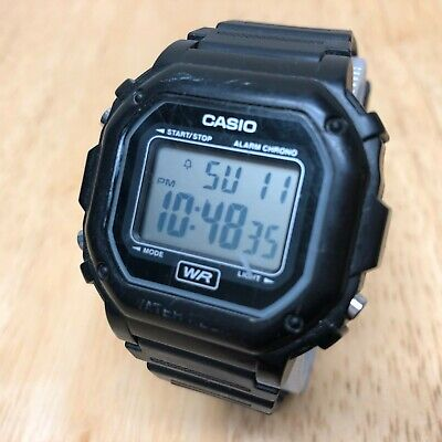 Casio F-108WH Mens Black LCD Digital Alarm Chrono Watch Hours~New Battery