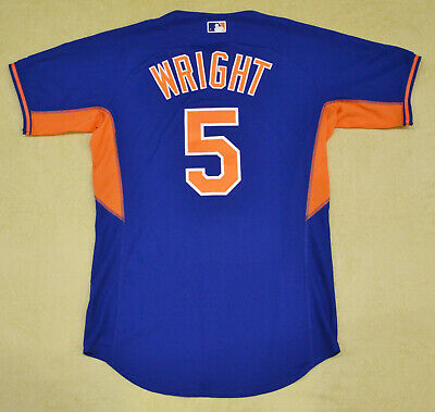 Men's David Wright New York Mets MLB Majestic Authentic blue jersey size 44 (L)