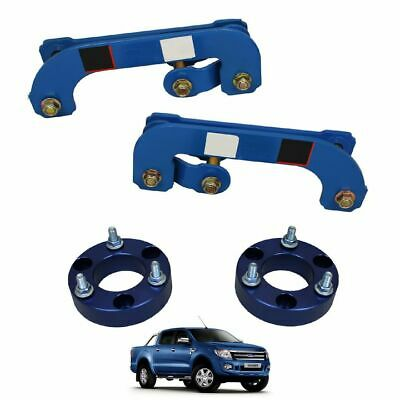 FRONT & REAR 2.5 Inch Shackle Suspension Lift Kit for Ford Ranger T6 2012-2015