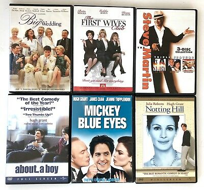 Lot of 6 Romantic Comedy DVD movies: The Big Wedding, First Wives, LN, More!