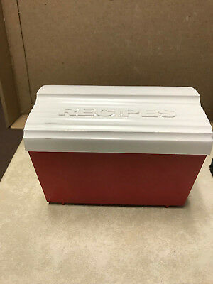 Vintage Robin Hood Flour Recipe Box Red/white 1950's plastic
