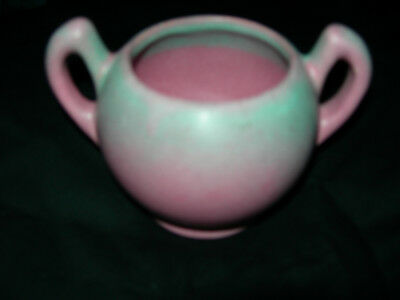 """Niloak Pottery. Plum Rose Creamer. Signed """"Hywood by Niloak"""". Excellent"""