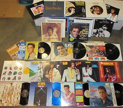 ELVIS PRESLEY 29 X VINYL LP set/lot/record collection/stamps/date with/mono