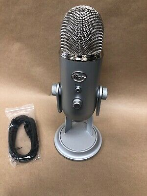 Blue Microphones Yeti USB Wired Condenser Microphone - Silver No Box