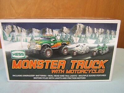 Hess Toy Monster Truck And With Motorcycles 2007 Lights Sound - NEW In Box!