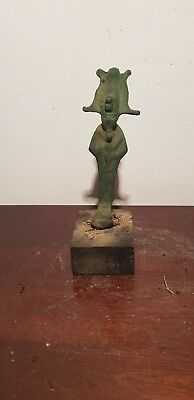 Rare Antique Ancient Egyptian Bronze Statue God Osiris under Ground1750-1670BC