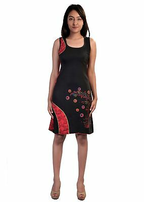 Women's Sleeveless Dress With Embroidery Work