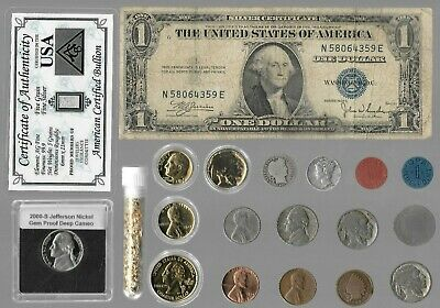 Silver Dollar Barber Mercury Indian War Rare Old 20 US Coin Collection Lot Gold