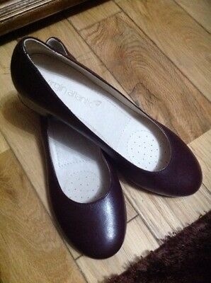 VIRGIN ATLANTIC CABIN CREW Brown Leather Shoes New Without Box size 5