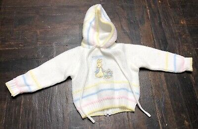 6-8 Month Beatrix Potter by Quiltex Peter Rabbit Sweater Baby Boy Girl Neutral