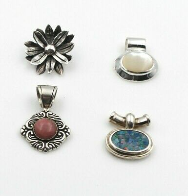 Lot Of Four Vintage Sterling Silver And Gemstone Pendants No Reserve #4318-8